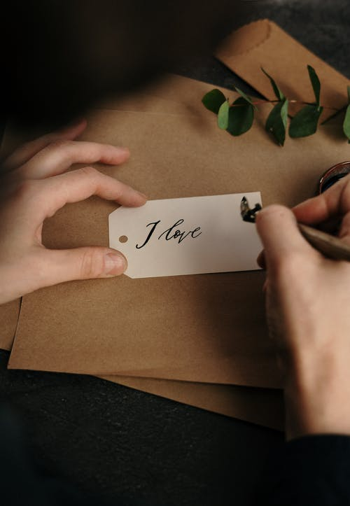 Paper Tag With I Love You Text