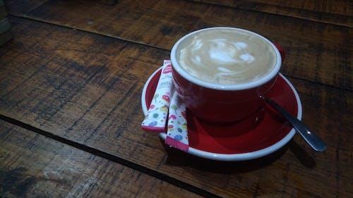 カフェイン, カプチーノ, コーヒーの無料の写真素材
