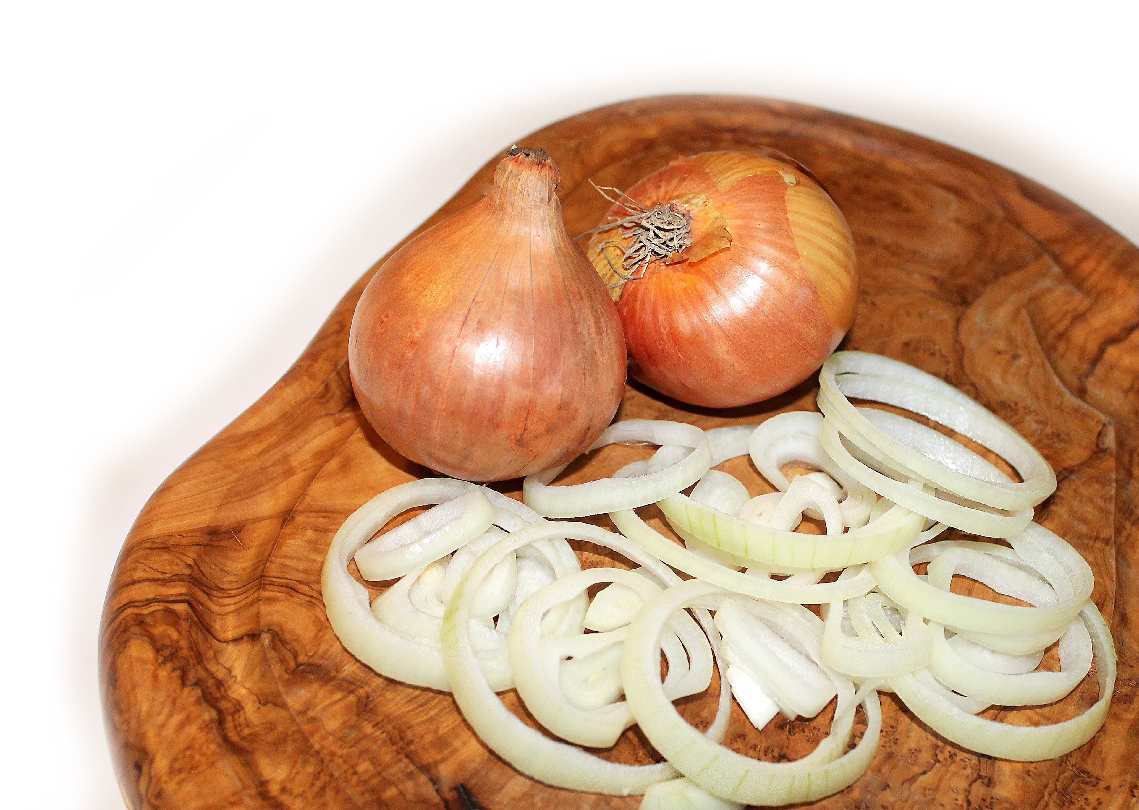 Onions Beside Sliced Onions