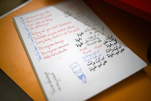 Free stock photo of arabic, bokeh, script, text