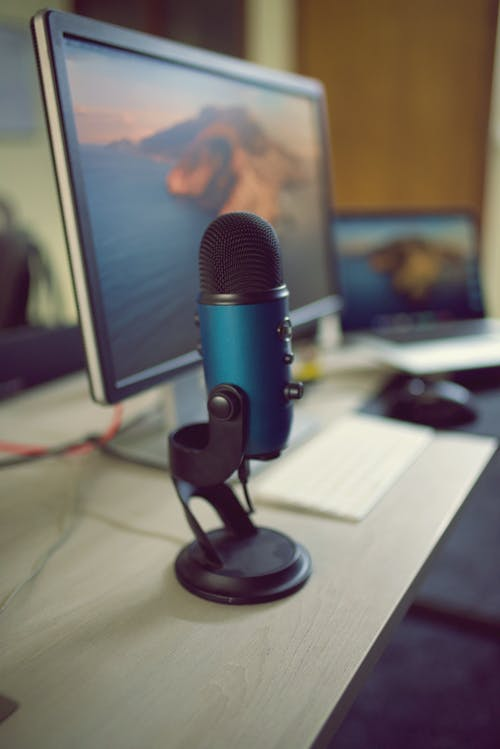 Free stock photo of bokeh, microphone, podcast