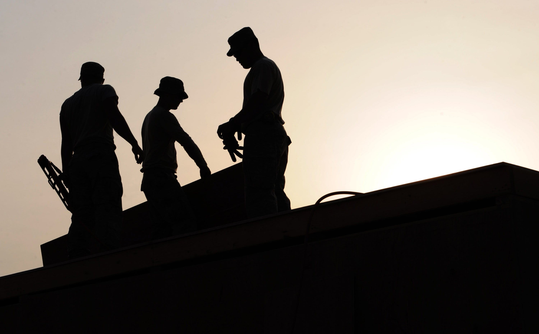 Kostenloses Stock Foto zu menschen, bau, arbeiten, silhouette