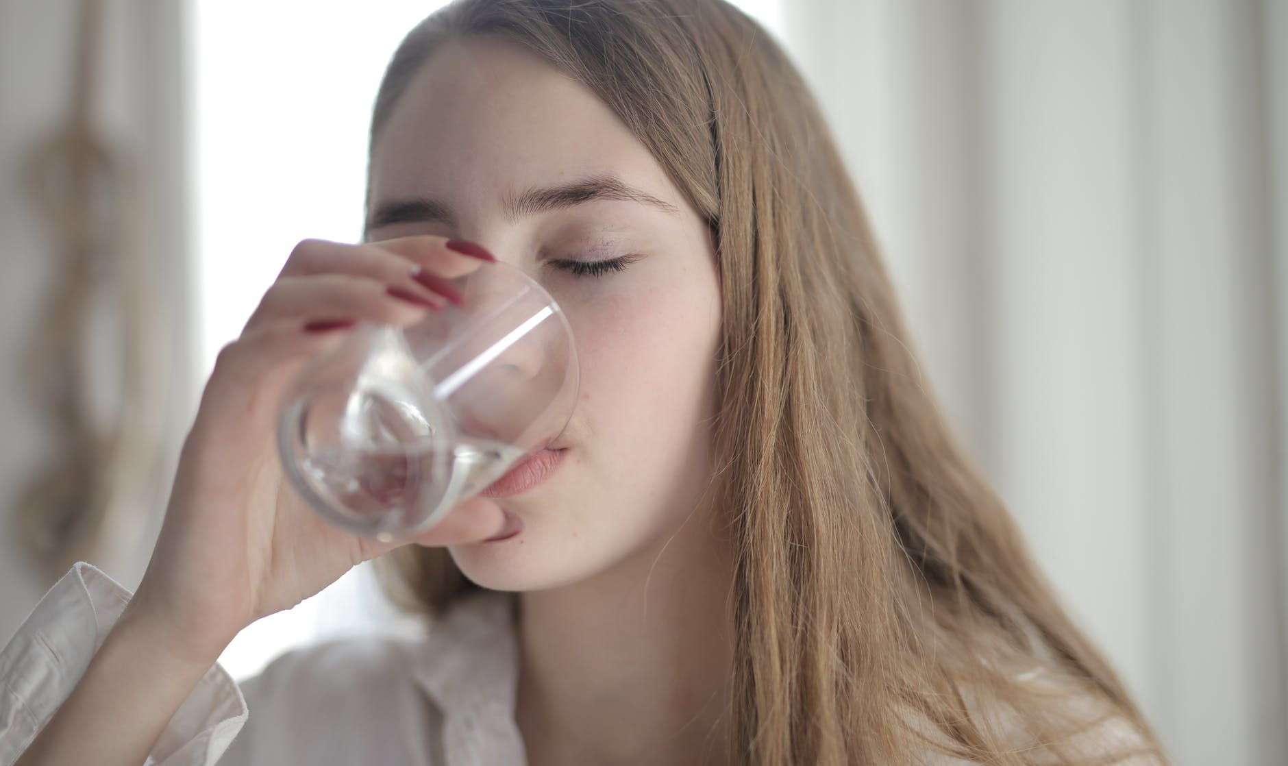 Person drinking water