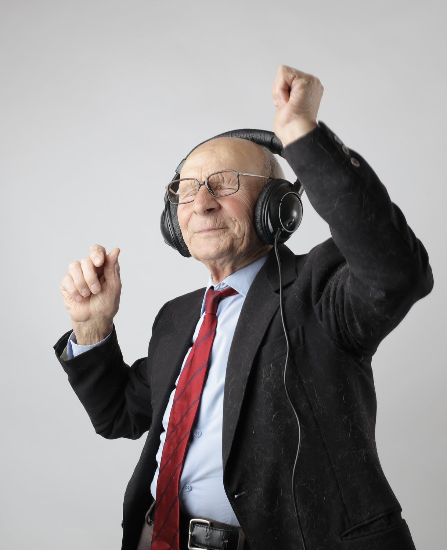 An Old Man Enjoying his Life
