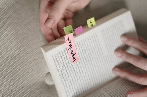 Book With Sticky Notes