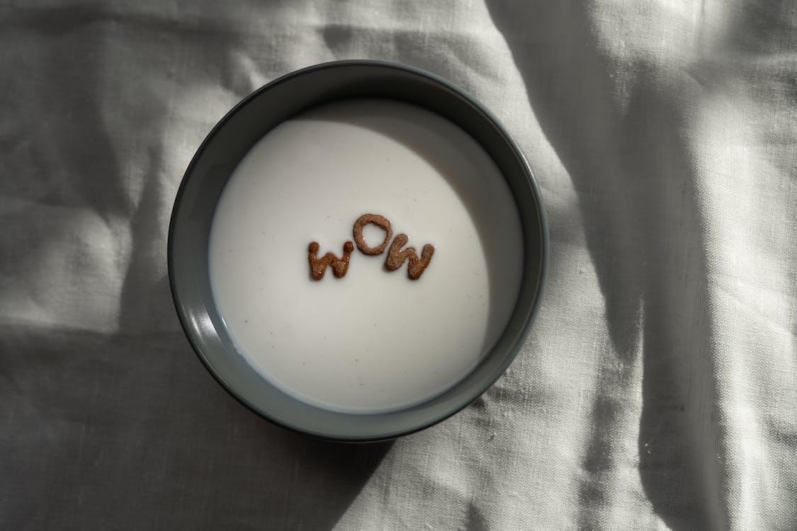 White and Black Ceramic Bowl