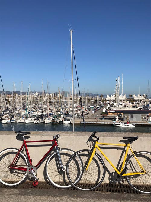 Free stock photo of bike, blog, red bike, seaside