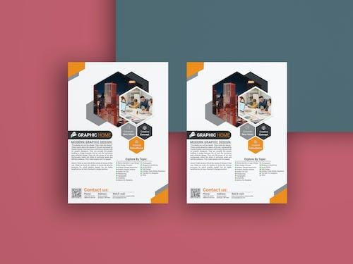Free stock photo of digital marketing, Modern business flyer