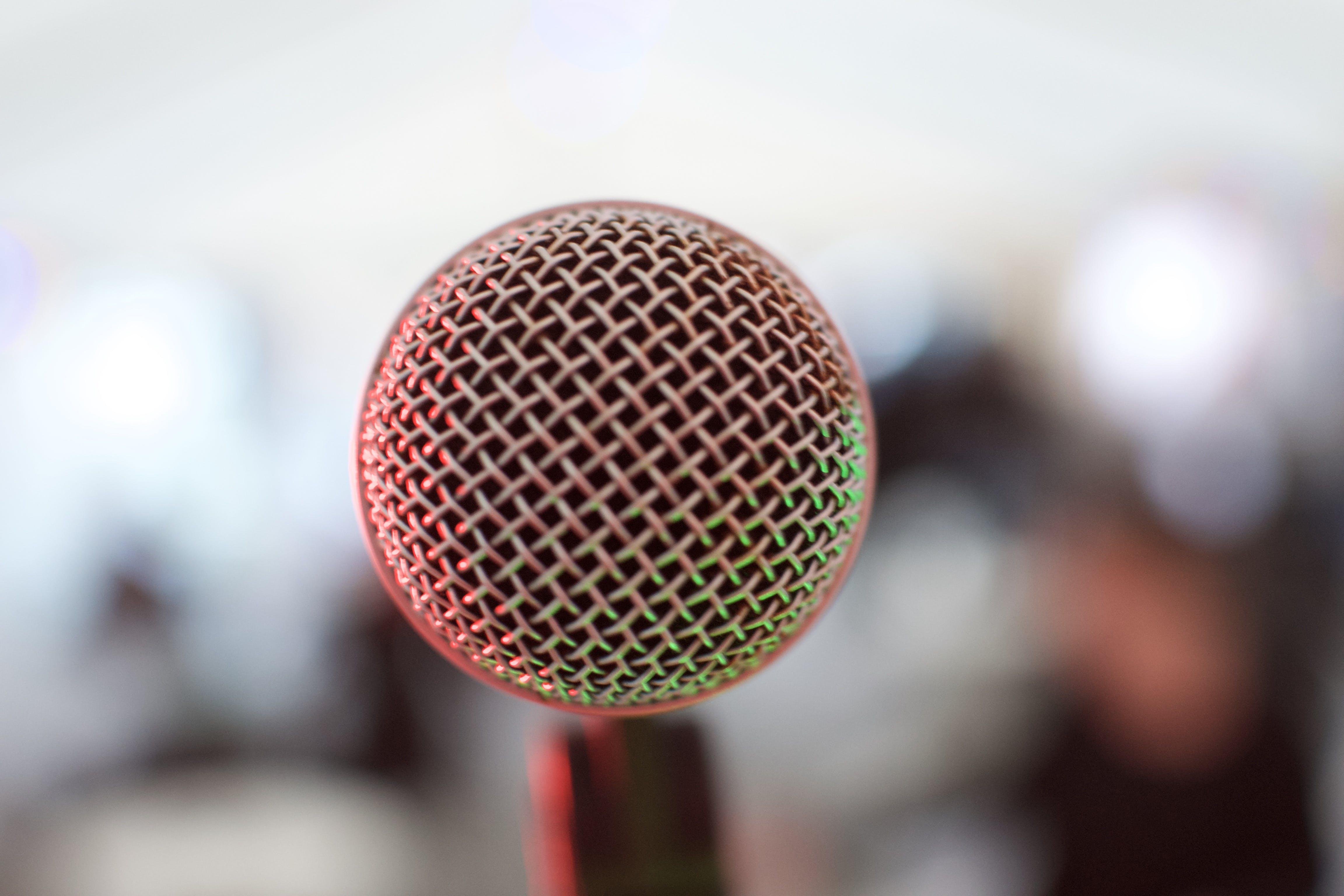 Free stock photo of microphone, stage