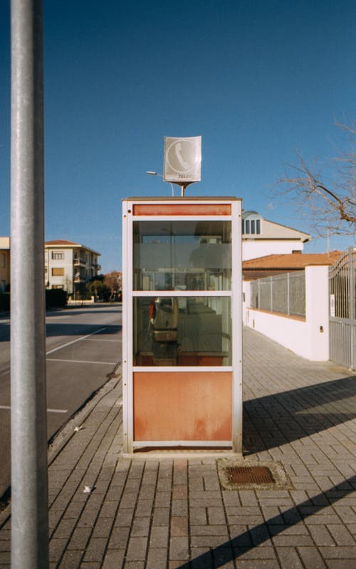 Free stock photo of analog, analog photography, phone booth, telephone booth