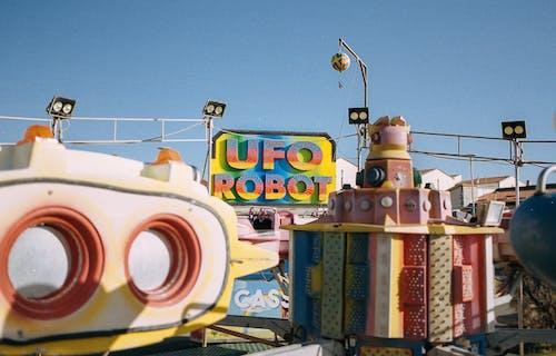 Foto d'estoc gratuïta de analògic, bon temps, carnaval, cel clar