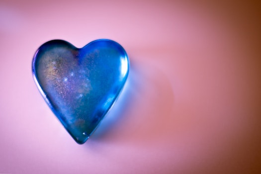 Free stock photo of heart, blue, glass, pink