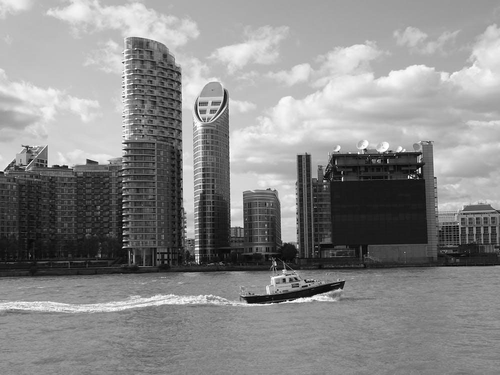 arkitektur, båt, byggnader
