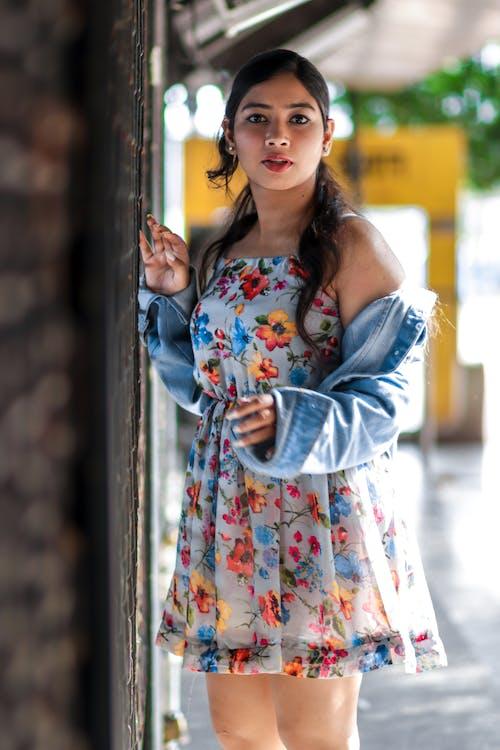 Woman Wearing Floral Dress