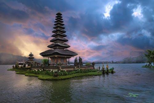 アジア建築, パゴダ, 反射, 古代の無料の写真素材
