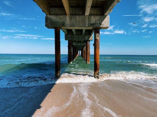 Free stock photo of atlantic ocean, beach, blue, bridge