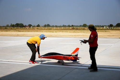 Men Checking the Aeromodelling