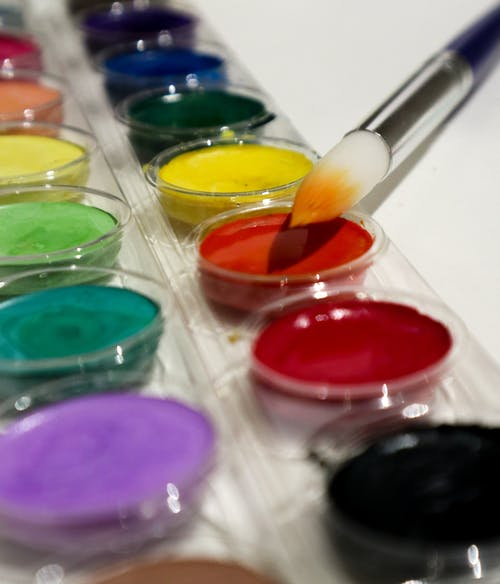 Free stock photo of art supplies, paint brush, watercolor