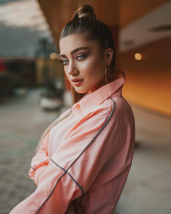 Girl in Pink Long Sleeve Shirt