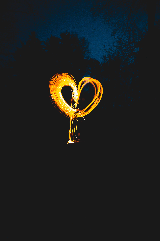 Free stock photo of light, art, heart, lights