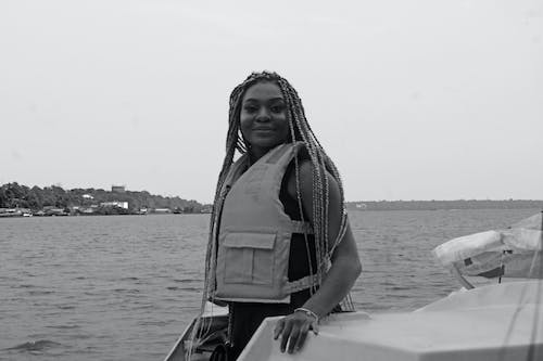 Free stock photo of african lady, beauty, boat