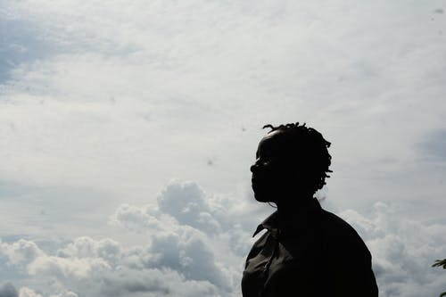 Free stock photo of african lady, beauty, clouds