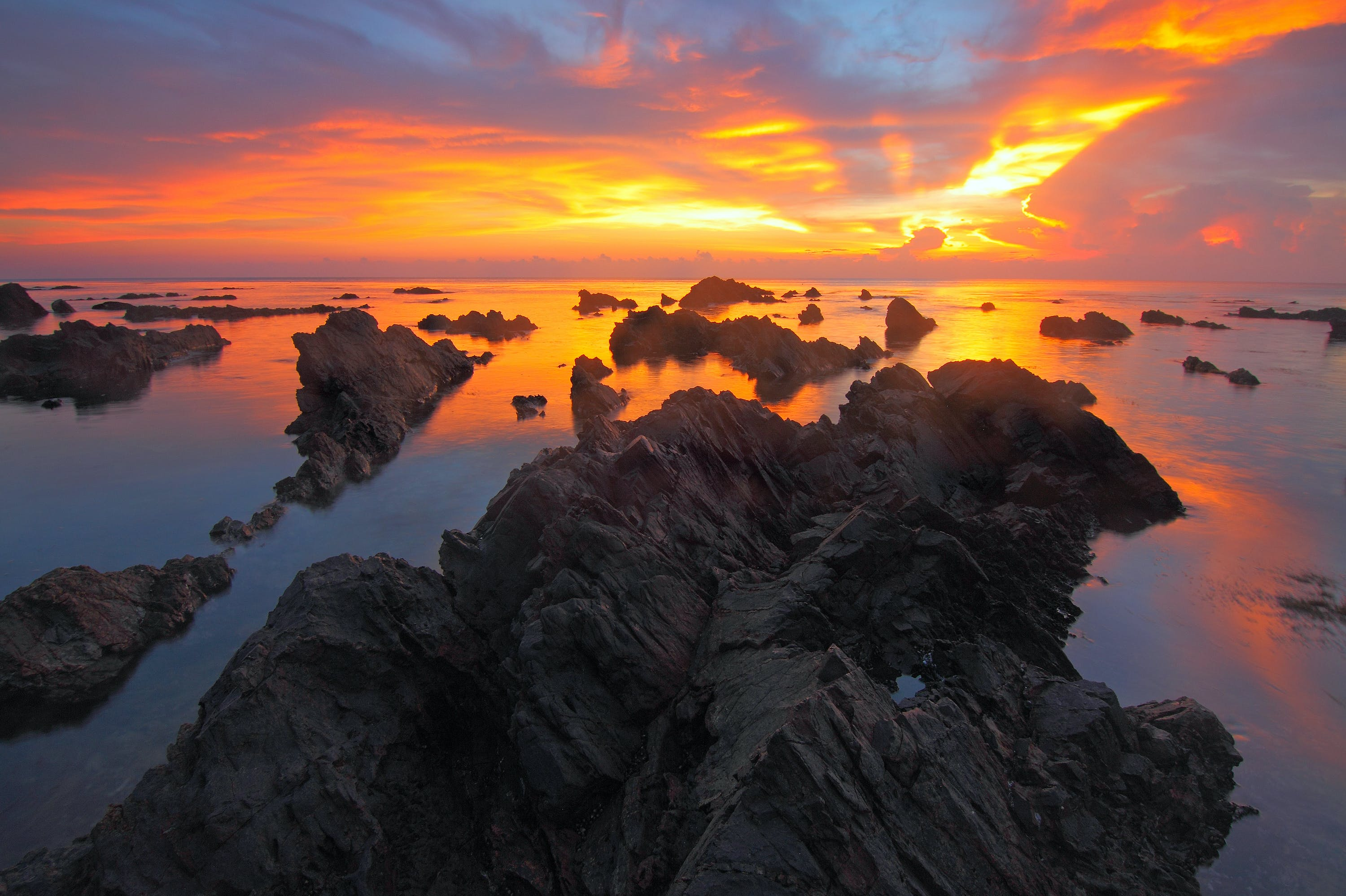 Rock Formations during Sunset