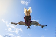 sky, person, flying