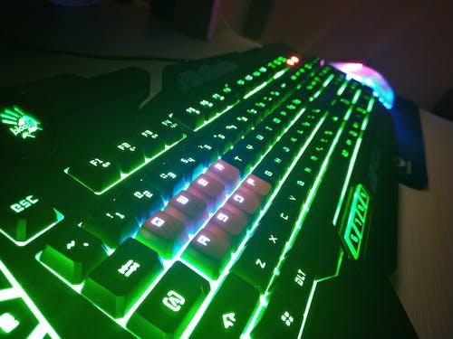 Free stock photo of green, key, keyboard