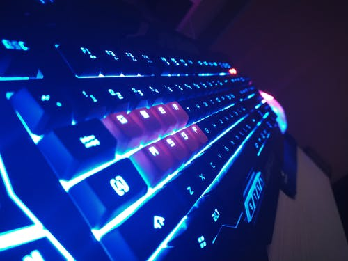 Free stock photo of blue, key, keyboard