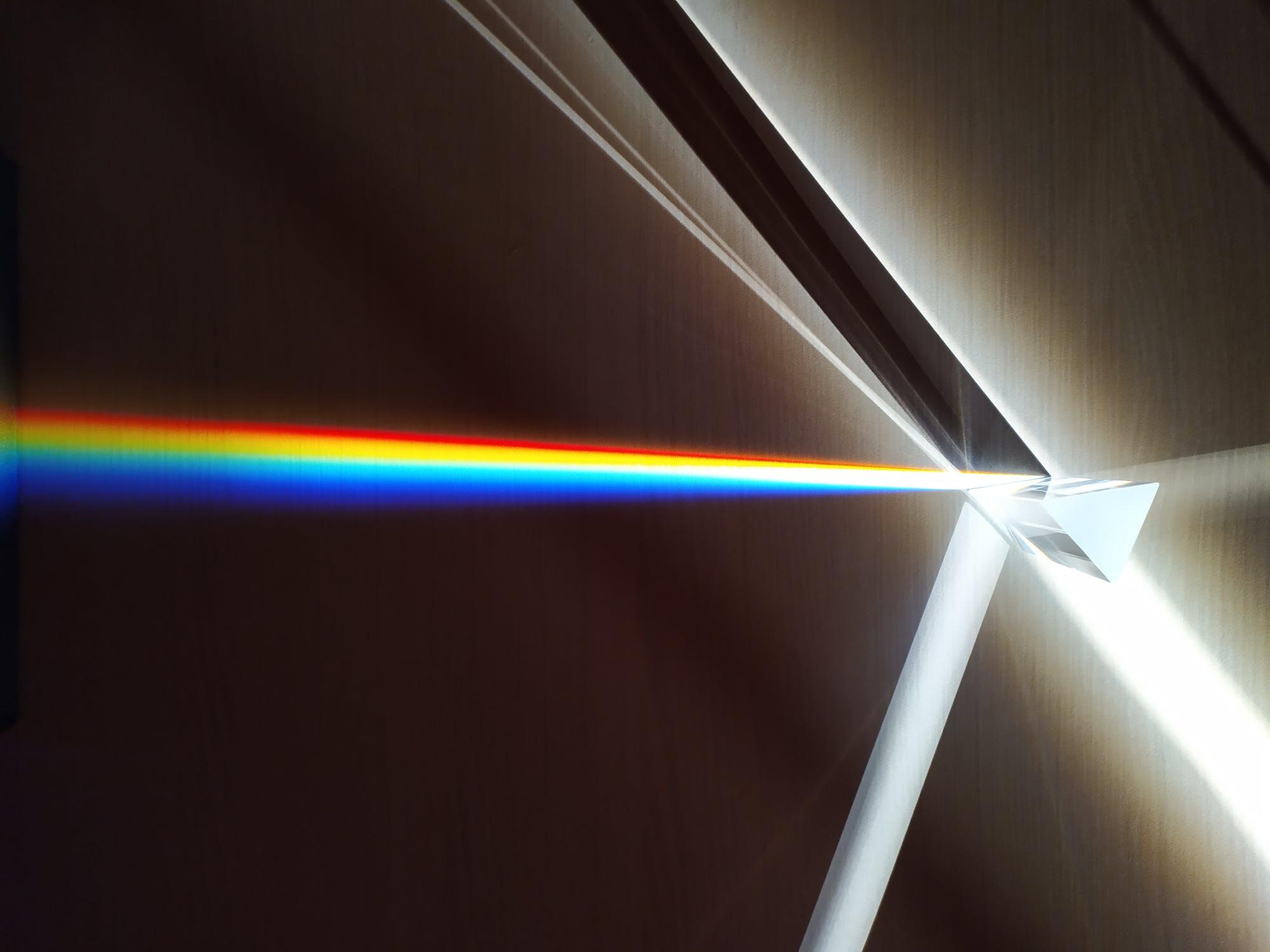 Rifrazione della luce, spettro della luce bianca