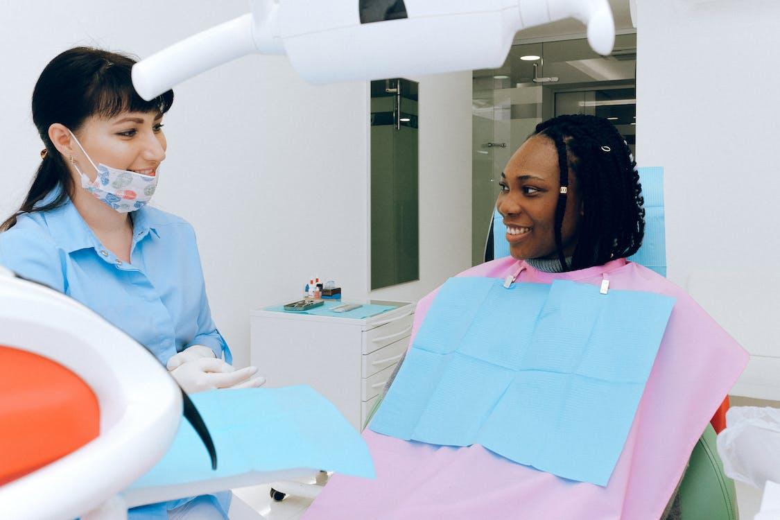 Woman Having Dental Check-up