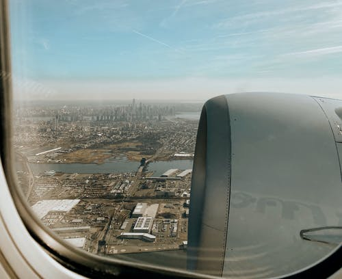 Free stock photo of airplane view, manhattan, manhattan view, new york