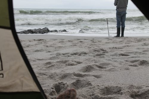 Free stock photo of beach, fishing, tent