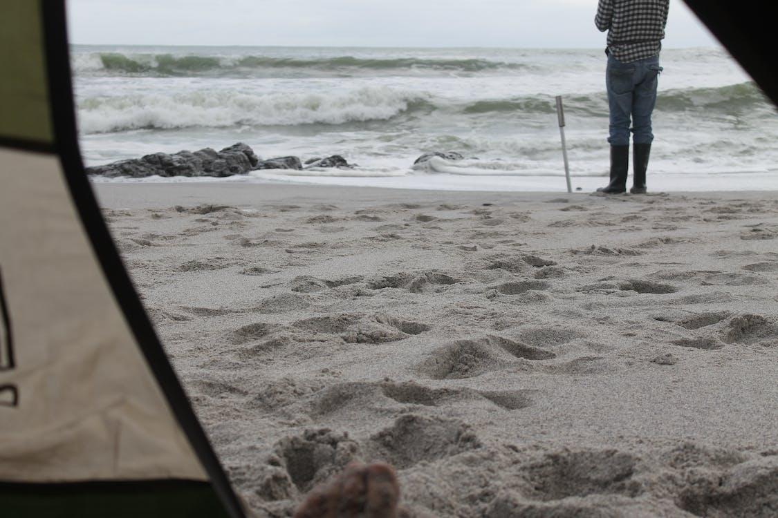 beach, fishing, tent