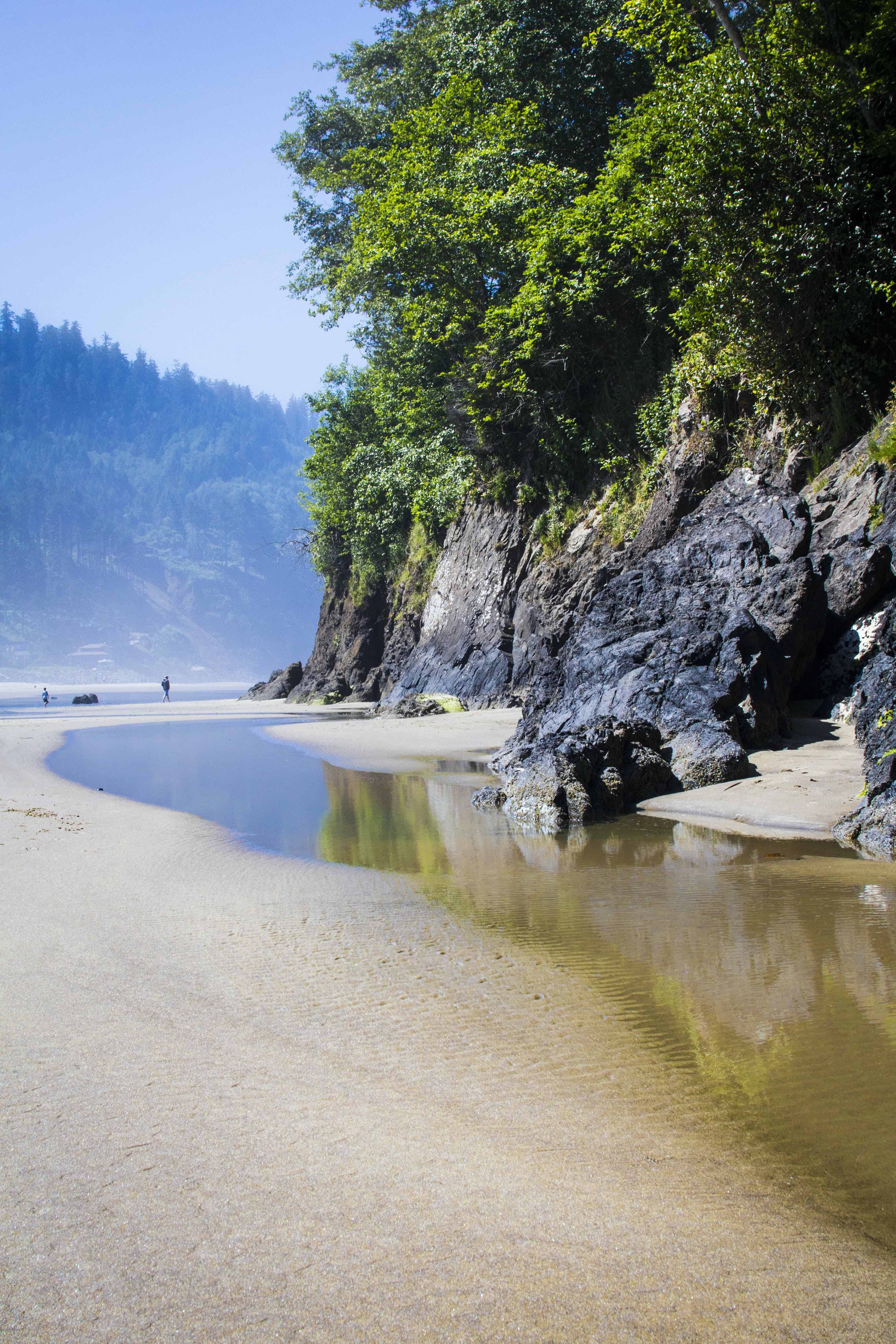 Free stock photo of beach, beach island, cliffs, low tide