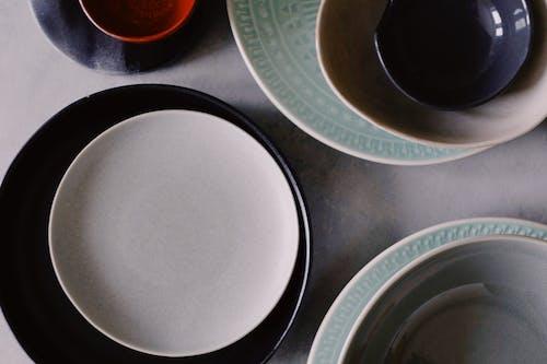 White and Black Ceramic Plate