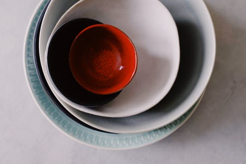 Colorful Ceramic Plates and Bowls