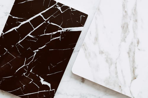 White and Black Marble Tiles