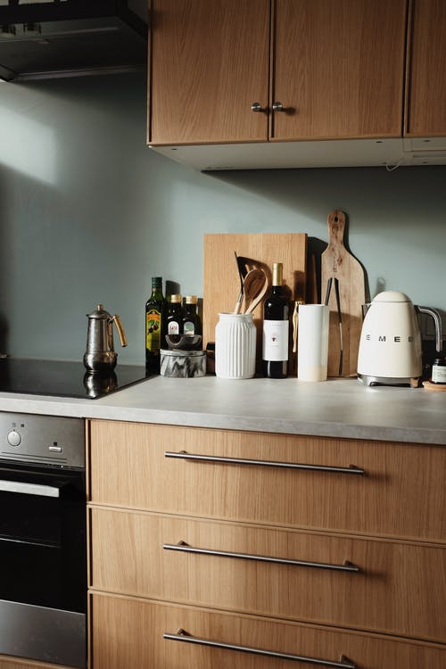 White Electric Kettle on Kitchen Counter