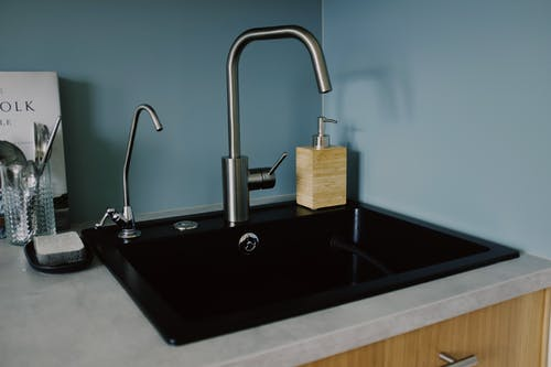Stainless Steel Faucet Turned Off