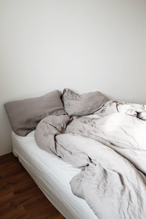 White and Gray Bed Linen