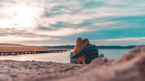 Free stock photo of couple, couple hugging, lake, Lake views
