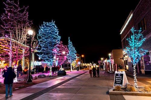 Free stock photo of art photo, background, blue lights