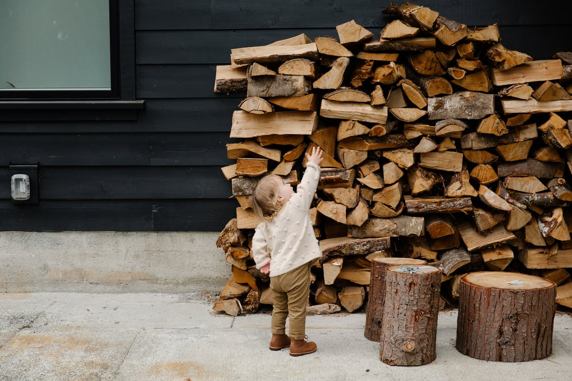 Child Reaching For Wood