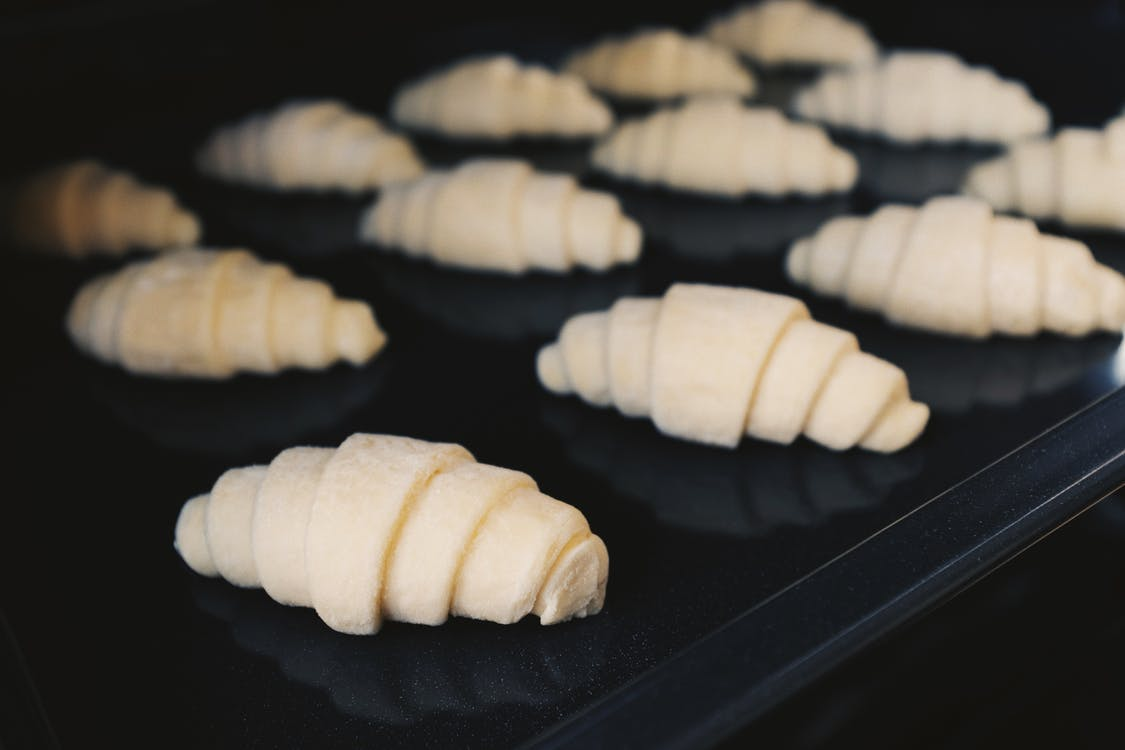 Croissants on Tray
