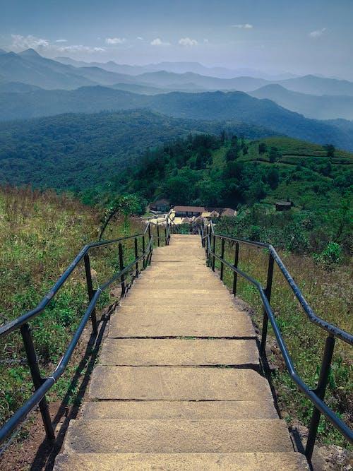 Free stock photo of Beautiful Scenery, blue mountains, dark green plants, scenery