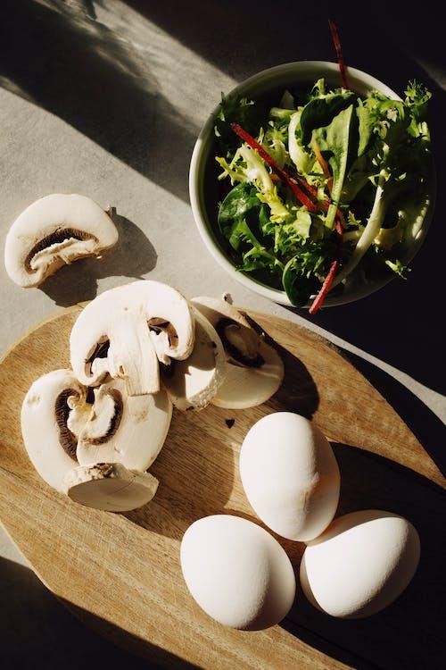 Sliced Mushrooms And Eggs