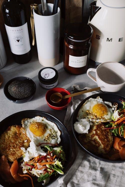 Darmowe zdjęcie z galerii z fotografia kulinarna, jajka, jedzenie