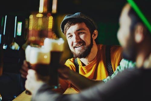 Friends at a Bar Cheering